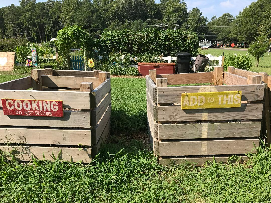 composting bins at Nimmo Community Gardens