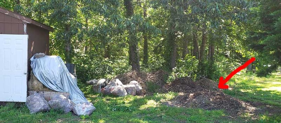 community plots ompost pile